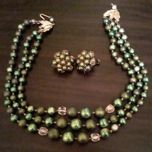 Vintage Jewelry - VINTAGE EARRINGS NECKLACE